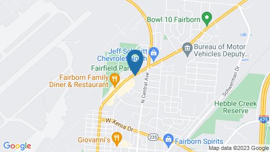 Fairborn Hotel Map