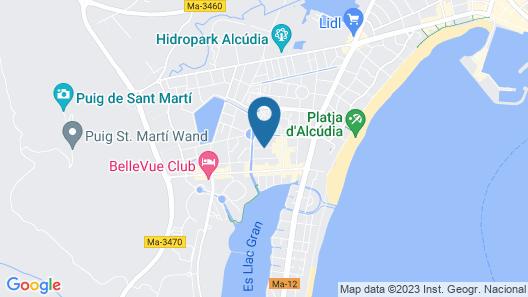 A10 Sol de Alcudia Apartamentos Map