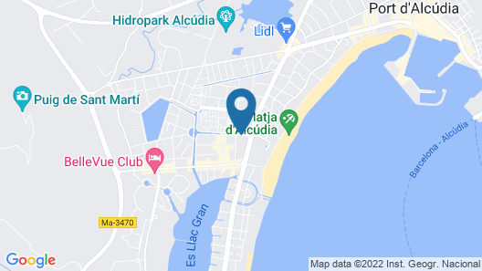 Hotel Astoria Playa - Adults Only Map