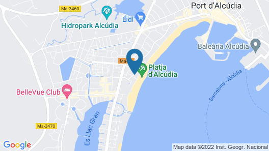 Bonavida Apartments Map