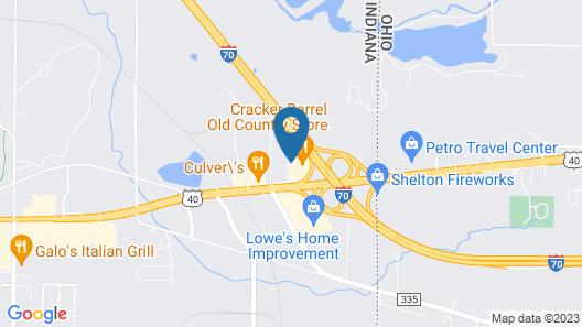 Motel 6 Richmond, IN Map