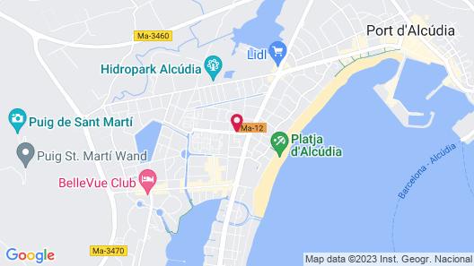 Aparthotel Alcúdia Beach Map