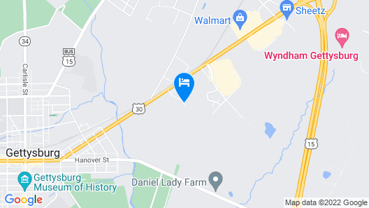 Super 8 by Wyndham Gettysburg Map