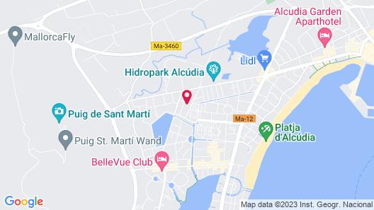 Aparthotel Mariner Club Map