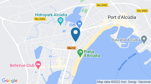 Apartamentos Ferrer Tamarindos Map