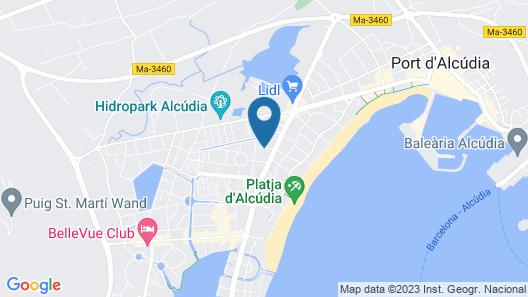BQ Delfín Azul Hotel Map