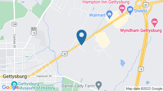 Days Inn by Wyndham Gettysburg Map