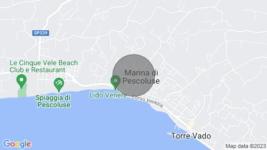 Pescoluse - Torre Vado FOR Rent Map
