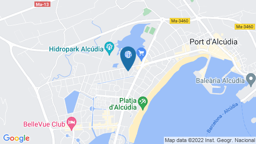 AluaSoul Alcudia Bay Adults Only Map