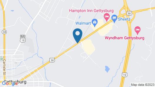 Econo Lodge Gettysburg Map