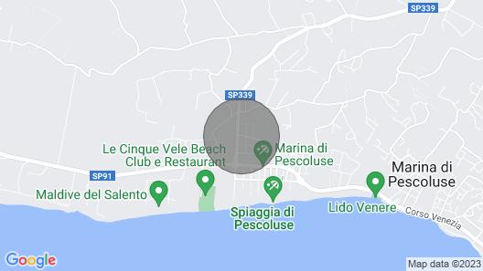 Marina Di Pescoluse: Villa Marta Maldives of Salento Map