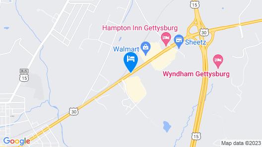 Hilton Garden Inn Gettysburg Map