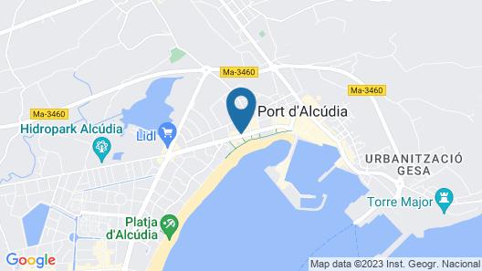 Aparthotel Alcudia Garden Map