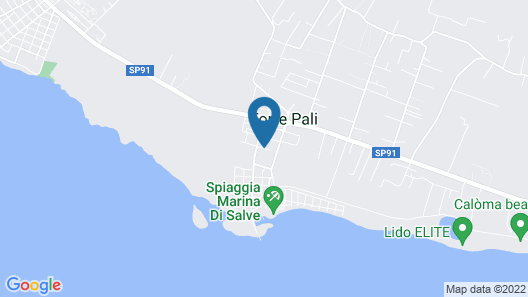 Residence Giglio Torre Pali Map