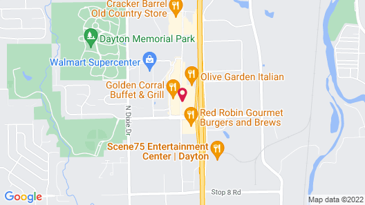 Drury Inn & Suites Dayton North Map
