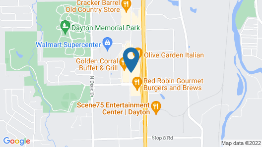 Drury Inn & Suites Dayton North Map
