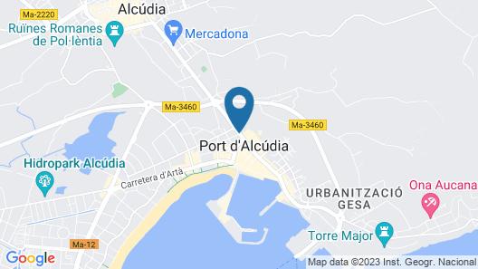 Eix Alcudia Hotel Map