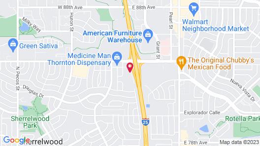 Motel 6 Thornton, CO - Denver Map