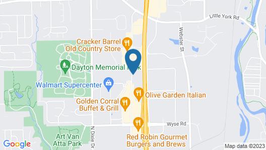 Red Lion Inn & Suites Dayton Airport Map