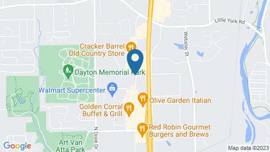 Hampton Inn & Suites Dayton - Vandalia Map