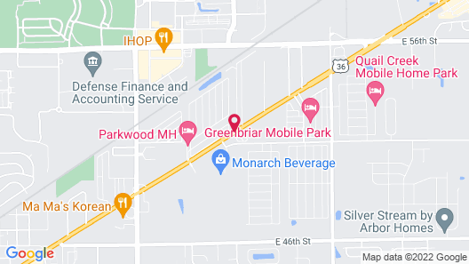 WoodSpring Suites Indianapolis Lawrence Map