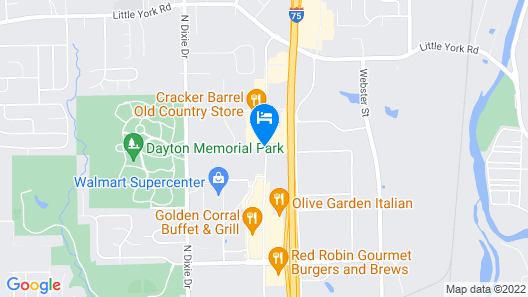 Courtyard by Marriott Dayton North Map
