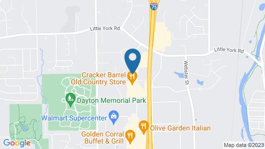 Comfort Inn & Suites Dayton North Map