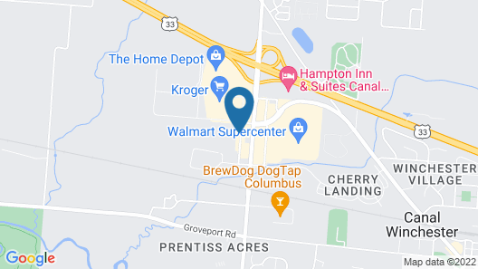 Best Western Plus Canal Winchester Inn - Columbus South East Map