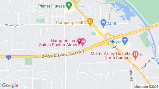 Hampton Inn & Suites Dayton-Airport Map