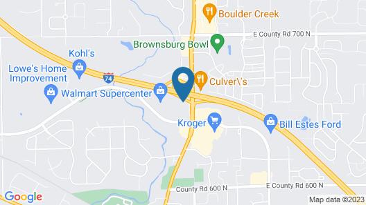 Super 8 by Wyndham Brownsburg Map