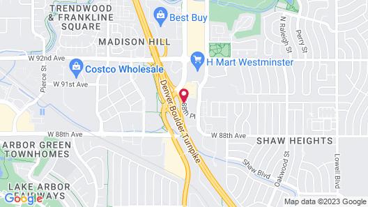 Hampton Inn Denver-Northwest/Westminster Map