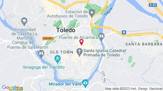 Oasis Backpackers Toledo Map