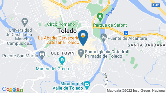 Oasis Backpackers Toledo Map