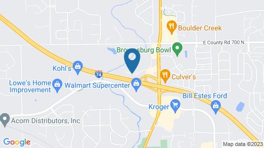 Hampton Inn & Suites Indianapolis/Brownsburg, IN Map