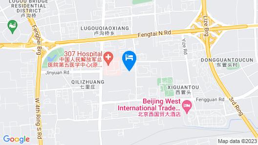 Jinjiang Inn Beijing Fengtai East Street Subway Station Map