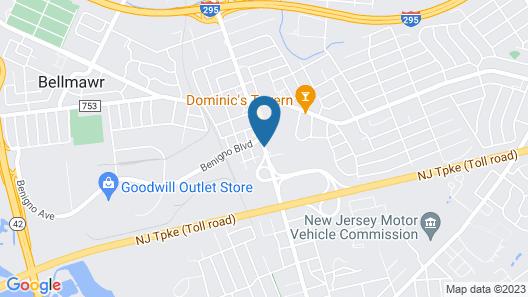 Super 8 by Wyndham Bellmawr NJ/Philadelphia PA Area Map