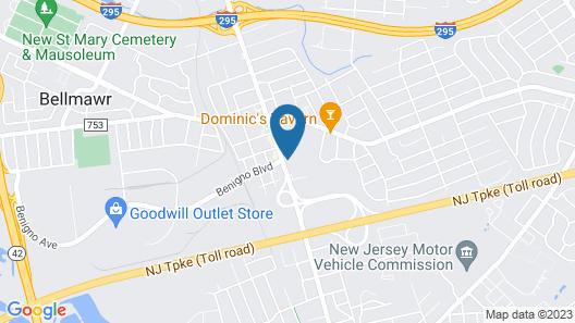 Econo Lodge Bellmawr Area Map