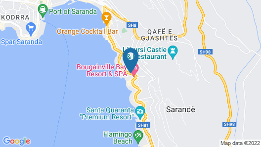 Bougainville Bay Hotel Map