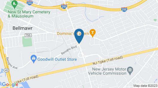Red Roof Inn & Suites Philadelphia - Bellmawr Map