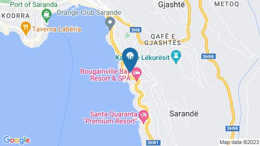 Blue Saranda Hotel Map
