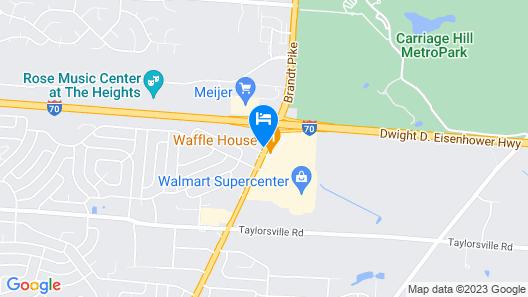 Comfort Inn Dayton - Huber Heights Map