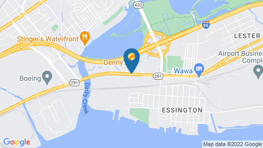 Red Roof Inn PLUS+ Philadelphia Airport Map