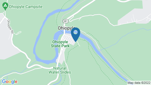 In the of Ohiopyle. Flexible Refund Policy. Charming, Clean, Central Location Map