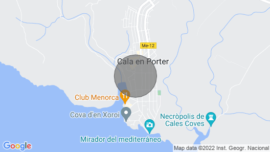 Casa Luna - Situated Only 5 Minutes Walk From The Amazing Cala En Porter Bay Map