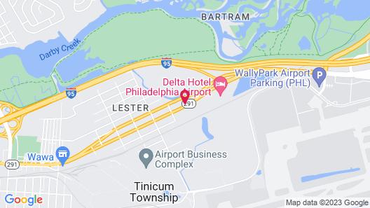 Motel 6 Lester, PA - Philadelphia Airport Map