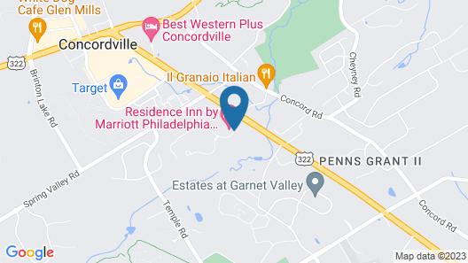 Residence Inn Philadelphia Glen Mills/Concordville Map