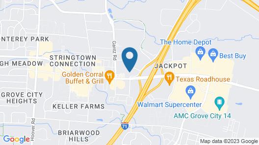 Motel 6 Grove City, OH Map