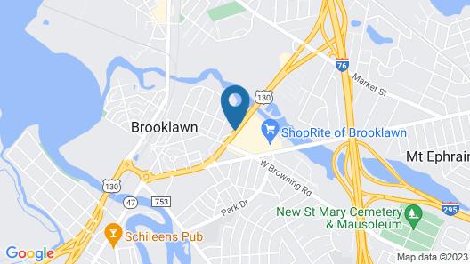 Motel 6 Brooklawn, NJ - Philadelphia Map