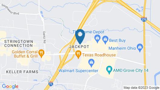 Hampton Inn Columbus - South Map