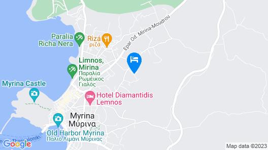 Amygdalies Apartments Map